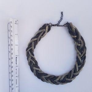 Express Modern Braided Metal Chain Necklace Choker
